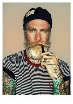 Miles 'Sailor' by MrElbank on Etsy, £3.85 #beard #beards #beardprints #portraits
