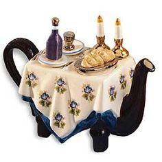 ceramic shabbat teapot~who knew? #jewish