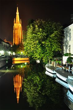 Brugge by night 4 by midyat - been here