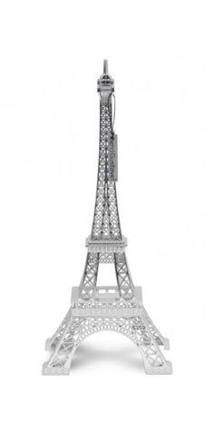 Design MerciGustave by Nathalie Leret & Yves Castelain Sous coffret carton avec fenêtres et poignée passemanterie assortie • Peint à la main •Métal brossé • Marquage numeroté • Certificat avec reprise du numéro • Minicatalogue• Dimensions : 31,5x13x13 • Poids : 400g (+emballage 220g) • base en alliage de zinc • Made in RPC #silver #eiffel #tower #bling #design #arty ($80)