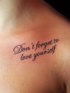 Text and quotes Tattoo - Tattoo Designs For Women!