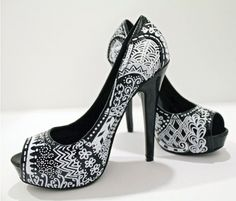 Zentangle High Heels