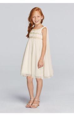 New Coming Pretty Chiffon Sleeveless Flower Girl Dress with Back Streamers Style JP171656