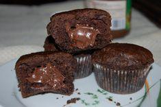 Muffinki nadziane nutellą | W kuchennym raju