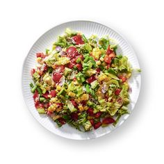 "Oprah eats a salad every day for lunch, and this chopped salad is her favorite. ""The vegetables are all cut fine, fine, fine. It's a very ladies-who-lunch kind of dish!"""
