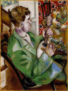 Marc Chagall The Mandolin Player - David in Profile, 1914