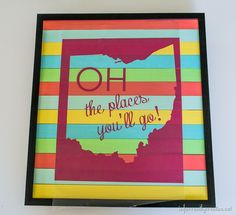 Repurpose paint sticks with this beautiful state sign from Beckie Farrant's tutorial, on #TheCreativeSpark