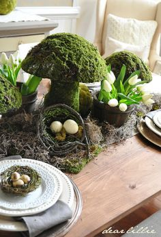 Spring Tablescape and Dining Room - It's a Spring Thing by Dear Lillie