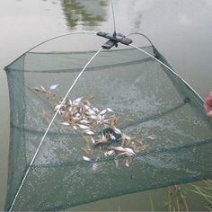 Nylon Foldable Crab Fish Crawdad Shrimp Fishing accessories 80 x 80cm Bait Trap Cast Net Fishing Cage k8356 Wholesale