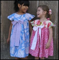 Simple Sunday Dress - Sizes 6mths-6yrs | YouCanMakeThis.com