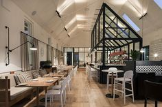 Kaper Design; Restaurant & Hospitality Design: The Old Library