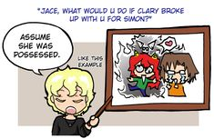 Drawn by Felwyn ...  clarissa 'clary' fray/fairchild, jace herondale, simon lewis, the mortal instruments