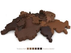 Die Schweizer Kantone auf einer Landkarte nach Schokoladenkonsum geordnet.