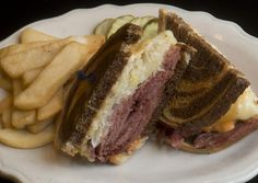 Head chef Seamus O'Neill created this braised corned beef Reuben sandwich platter at Jack Callaghan's Ale House in West Allentown.