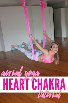 HEART CHAKRA AERIAL YOGA TUTORIAL WITH MARGIE PARGIE