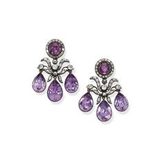 A Is For Amethyst February's Birthstone ❤ liked on Polyvore featuring jewelry, earrings, amethyst, amethyst jewelry, purple amethyst earrings, purple jewelry, birthstone earrings and long earrings