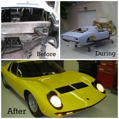 Miura before and after restoration.