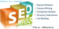 #SEOServicesCompanyDelhi - Alliance IT provides Quality and Affordable SEO Services in Delhi to bring their website on top of search results and boost the user traffic on the business website. More information visit - http://allianceit.in/