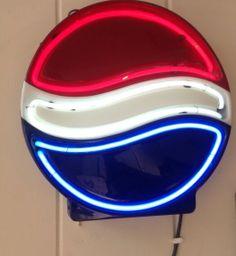 Vintage Pepsi Cola Neon Light Signround by Found3Designs on Etsy, $149.99