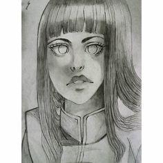 Hinata  #manga #hinata #naruto #anime #animegirl #mangagirl #draw #drawing #b&w #black-and-white #chiaroscuro