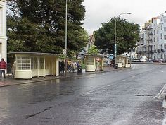 Art Deco bus shelters / stops in The Old Steine, Brighton Brighton Rock, Brighton Sussex, Brighton And Hove, Bus Shelters, Worthing, Art Deco Buildings, Days Like This, Art Deco Design, Old Pictures