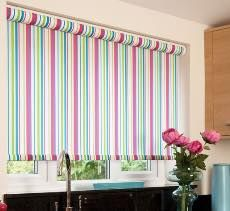 Choice Blinds Edinburgh supply made to measure Roller, Roman, Venetian and Verticals. Roman Blinds, Curtains With Blinds, Striped Roller Blinds, Traditional Curtains, Made To Measure Blinds, Kitchen Blinds, Window Hanging, Pink Candy, Girls Bedroom