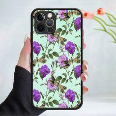 Flower wallpaper phone case cover 202 Black (Apple Models Only) - 6