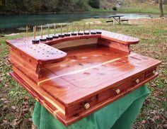 Fly Tying Bench/ Desk Handmade Rustic Cedar by FlyTyingEssentials