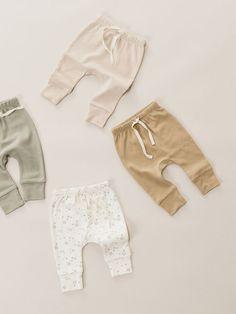 Minikin for Quincy Mae Baby Outfits Newborn, Baby Boy Outfits, Baby Boy Fashion, Kids Fashion, Essentiels Mode, Kids Branding, Drawstring Pants, Baby Wearing, Baby Shop