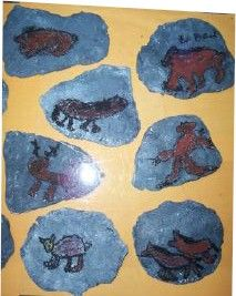 "Lascaux Cave Art on Ceramic ""Stones"" Lesson Plan: Art History for Kids - KinderArt"