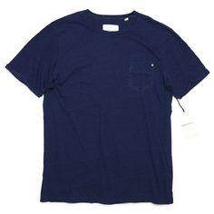 Paperdenim&Cloth ペーパーデニム&クロス インディゴ ポケットTシャツ [001]