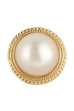 10K Yellow Gold Mabe Pearl Ring by Savvy Cie on @nordstrom_rack