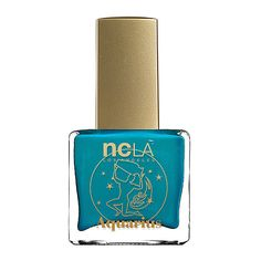 NCLA What's Your Sign? Aquarius Lacquer ($18) ❤ liked on Polyvore featuring beauty products, nail care, nail polish, beauty, ncla nail lacquer, ncla nail polish and ncla