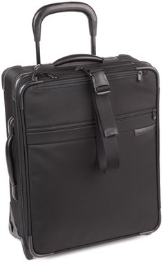 Briggs & Riley 20 Inch Carry-On Expandable Wide-Body Upright,Black,20x16x8