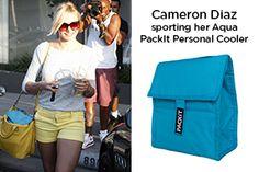 Cameron Diaz sporting her Aqua Personal Cooler