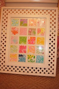 Prints in a frame...cute to do with Lilly agenda pages