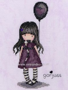 The Balloon Cross Stitch Kit by Bothy Threads
