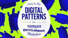 Source & Mix: Digital Patterns from Vintage Encyclopaedia Illustrations Technology Logo, Digital Technology, Typography Design, Logo Design, 3d Design, Flyer Design, Social Media Graphics, Surface Pattern Design, Digital Pattern