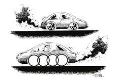 """OÖN-Karikatur vom 16. März 2017: """"Es stinkt schon wieder zum Himmel"""" Mehr Karikaturen auf: http://www.nachrichten.at/nachrichten/karikatur/ (Bild: Mayerhofer)"""