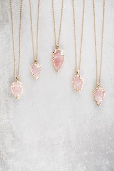 Arrow Spear Necklace | Pink