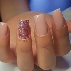Neutral with pink glitter