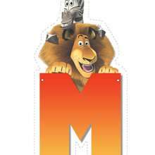Madagascar 2: Letter M - Kids Craft - BIRTHDAY PARTY crafts activities - BIRTHDAY crafts - Madagascar 2: Escape 2 Africa Letters of Alphabet...