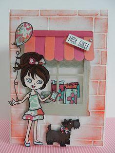 Stamp-ing: 'Hey, Girl' stempelset in combinatie met de 'Heart & Home Thinlits Stampin'Up! www.stamp-ing.blogspot.nl