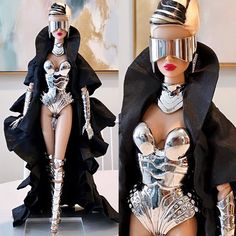 """Suresh on Instagram: """"Not for the faint of heart! 😱 Meet """"Mothership"""" Dania Zarr produced by @integrity_toys designed by @thosedollyeyes 👏🏽👏🏽 Taking fashion…"""" Dolly Fashion, Integrity, Meet, Toys, Instagram, Design, Style, Activity Toys, Swag"""
