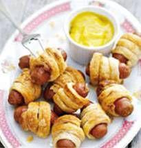 Mini Frankfurters in Pastry
