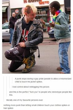 Or when a random little kid in the store stops you and asks if they can feel your shaved part or wear your venue cuz they think it looks cool and like I feel so honored so punk just so punk Tumblr Stuff, My Tumblr, Tumblr Posts, Angst Quotes, All Meme, Gives Me Hope, Faith In Humanity Restored, Cool Stuff, Random Stuff