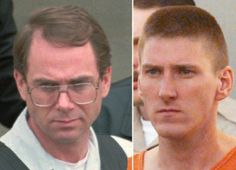 Terry Nichols, left, (1955-) and Timothy McVeigh (1968-2001) were convicted in the plot to bomb the Alfred P. Murrah Federal Building in Oklahoma City in 1995. The attack killed 168 people. McVeigh sought revenge for government sieges at Waco and Ruby Ridge and hoped the attack would inspire a revolt against the federal government. Nichols was convicted as a conspirator. McVeigh was executed in 2001; Nichols is in prison in Colorado.