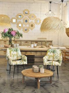 We've uncovered a boutique that radiates craft expertise and showcases state-of-the-art elements. Upholstered Arm Chair, Condo Living, Interior Decorating, Interior Design, Outdoor Furniture Sets, Outdoor Decor, Tropical Houses, A Boutique, Vintage Decor