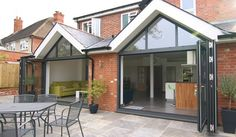 triple sliding glass doors with glazed gable - Google Search