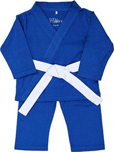 Baby grappling ORGANIC Baby gi 3-piece Martial Arts Playsuit, Blue with White belt, 0-2 Mo - http://www.exercisejoy.com/baby-grappling-organic-baby-gi-3-piece-martial-arts-playsuit-blue-with-white-belt-0-2-mo/martial-arts/